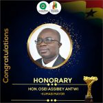 Hon. Osei Assibey Antwi Wins Most Outstanding MCE of the Year at National Students' Awards 2020